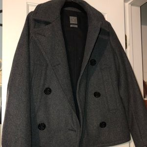 Women's gap peacoat with anchor detailing